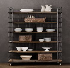 Baker's Rack - from Restoration Hardware; great open shelving for kitchen
