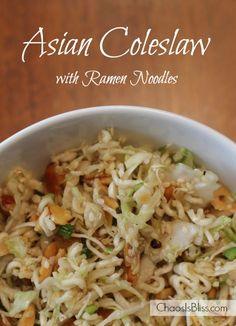 asian ramen noodle coleslaw, coleslaw with ramen noodles, asian salad with ramen noodles, asian slaw with ramen noodles, noodle recipes, side dish, asian ramen noodle salad, ramen noodle coleslaw salad, noodl recip