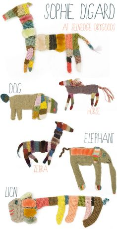 crochet brooches by Sophie Digard at Selvedge Drygoods | emmallamb.blogspot.com