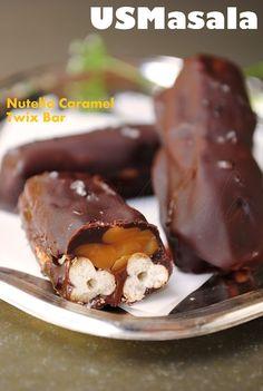 Dark Chocolate Caramel Nutella Twix Bar