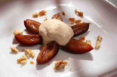 bushcooks kitchen: Zwetschgen mit Espuma und karamellisierten Walnüssen