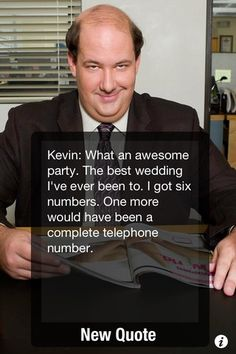 oh Kevin... =)