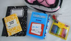 """SCHOOL SUPPLIES 6 Piece Set works for 18"""" American Girl Doll Accessories"""