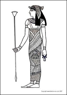 fashion coloring pages | The ancient Egyptians worshipped a range of Gods and Goddesses. Some ...