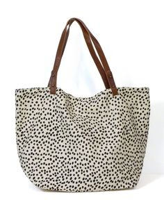 Dotted Shopper Tote