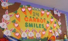 Easter Bulletin Board Idea classroom, book displays, easter bulletin, bulletin boards, carrots, spring bulletin, preschool, 24 carrot, board idea