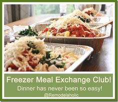 how to start a freezer meal exchange club. not having to prep a whole meal every night? I'm in!