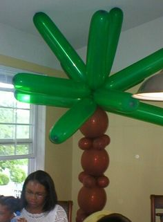 Palm tree balloon made for nephews luau party