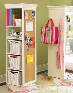 Click Pic for 40+ Storage Ideas for Small Spaces | Pivot Wardrobe Storage | DIY Home Organization Ideas Hacks