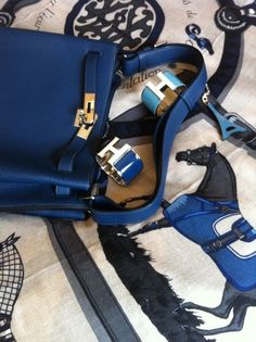 Hermes Bag, Scarf and Cuffs