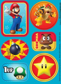 Super Mario Party Sticker Sheets, 89408