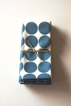 Cloth Napkins Hand Printed in Marine Dot Set of by printinggrounds, $36.00