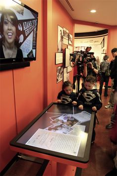 Multitouch table installation at the Indian Pueblo Cultural Center.