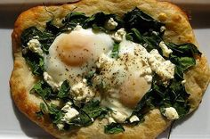 egg recipes, savori recip, eggs, flake, bed, breakfast, nice varieti, healthy foods, health foods