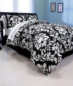 denmask bedding set | ... Damask Comforter Set Black and White Size King - Comforters & Sets
