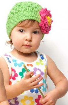 Floral Hat Free Crochet Pattern from Red HEart Yarns