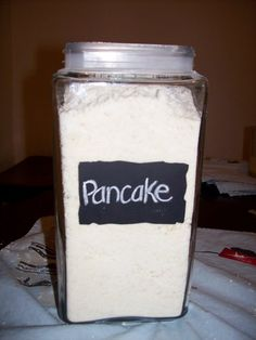 Pancake Mix , made it and it's so yummy.never buying boxed again!