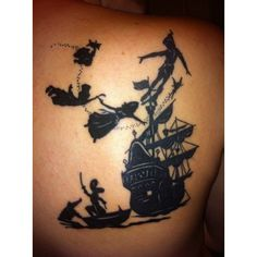 peter pan tattoo | Tumblr found on Polyvore