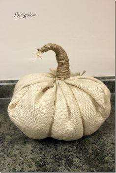 5 minutes to craft a burlap pumpkin