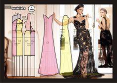 Modelagem do vestido de renda Laura Neiva. Fonte: https://www.facebook.com/photo.php?fbid=560309504004959=a.426468314055746.87238.422942631074981=1
