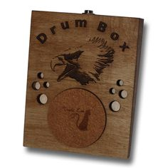 Eagle Stompbox Rhythm Foot Drum Stomp box Cigar Box Guitar on Etsy, $34.03 AUD
