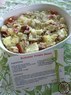 Red Potato Salad.  Really good and easy to make, but I would say cut the salt in half.  A bit too salty for my liking.
