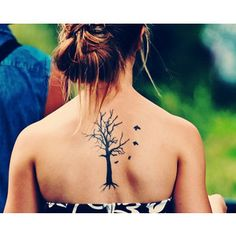 Cute tattoo but instead of having normal branches turn them into family members names in cursive along with normal branches too.