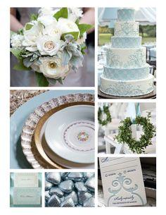 JADE GREEN & ICE BLUE WEDDING THEMES   ... Wedding Favors with Luv, Martha Stewart Weddings, Country Living.com