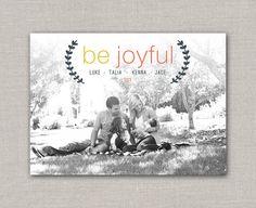Be Joyful Christmas Card