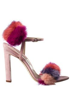 Fall and Winter Heels: Brian Atwood Myra Patchwork Mink and Suede Sandal