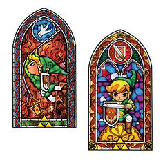 ThinkGeek :: Legend of Zelda Stained Glass Wall Decal