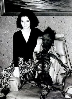 Behind the scenes photo of Winona Ryder on the set of Beetlejuice (1988)