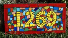 Confetti Mosaic Stained Glass House Number by JooolesDesign, $110.00 hous number, stain glass, mosaic stain, house numbers, glass houses, stained glass