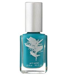 Priti Nail Polish in Blue Wedgewood, a deep turquoise blue available now at Spirit Beauty Lounge.