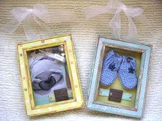 A shadowbox is the perfect way to preserve baby memorabilia.
