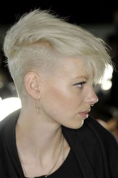 Nice white blonde and undercut hairstyle