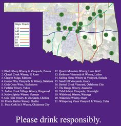OGGWMA Oklahoma Wineries and Vineyards Map