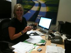 Katie's hard at work crunching the numbers! Thanks Katie!