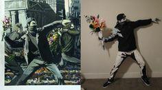 Un disfraz Banksy!! Via blog.fiestafacil.com / A Banksy costume! Via blog.fiestafacil.com