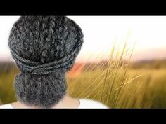 White and Gold Wedding. Bridesmaid Hair. Natural Hair. Videos. Bun styles for natural hair.