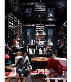 Harper's Bazaar - Upstairs Downstairs