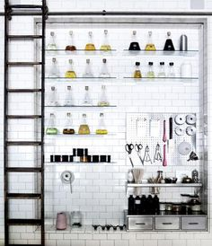 this is kind of what I want the kitchen to look like. OK-maybe the pantry. Like Willy Wonka -or Dr Frankenstein should cook there. At any rate, Gene Wilder should be at home.