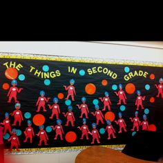 Dr. Seuss bulletin board Thing One and Thing Two