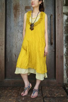 Simple chicSun flower tone Light Cotton Dress by smileclothing, $35.00