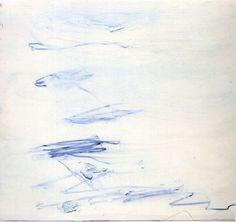 draw, cy twombly, 1959, seas, blue