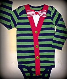 Baby Boy Cardigan onesie with Bow Tie, Christmas baby boy onesie, Preppy Modern look on Etsy, $30.00