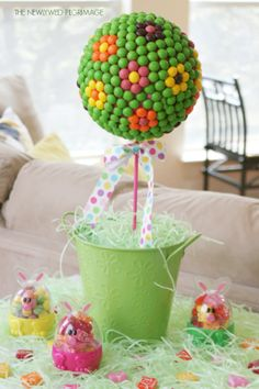 Easter Centerpiece Tutorial: Candy Topiary