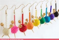 Knitting earrings