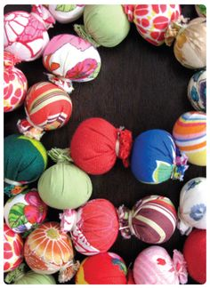 Fabric Garland for my house, christmas tree, or classroom! classroom, fabric ball, fabricgarland, ball garland, christma tree, garlands, hous, fabric garland, christmas trees