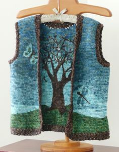 Reversible Rowan Tree Vest